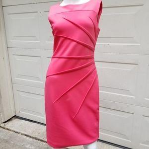Calvin Klein bodycon dress sz 6 coral pink red